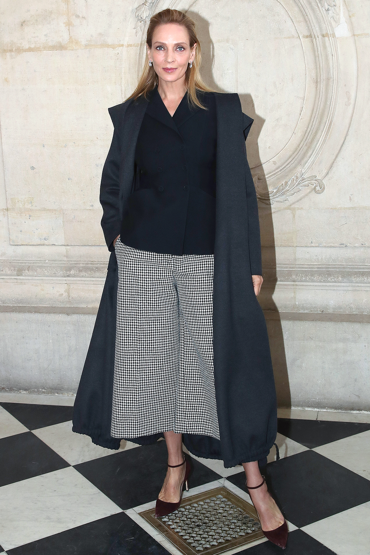 Uma Thurman attends the Dior Haute Couture Spring/Summer 2020 show as part of Paris Fashion Week on January 20, 2020