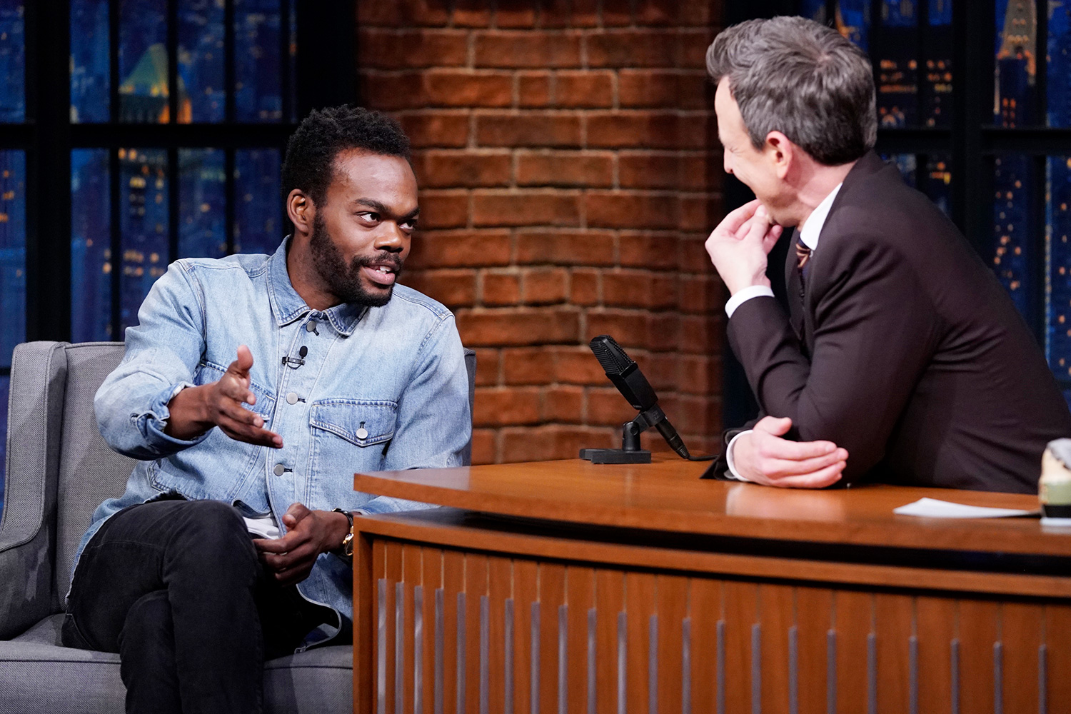 William Jackson Harper during an interview with host Seth Meyers on January 28, 2020