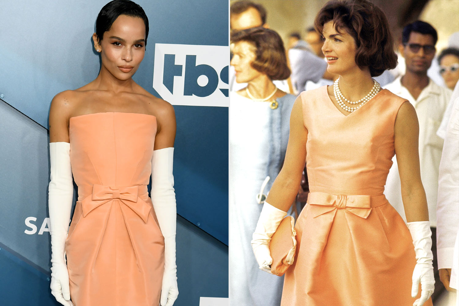 Zoë Kravitz's Gown Was Inspired by Jackie Kennedy