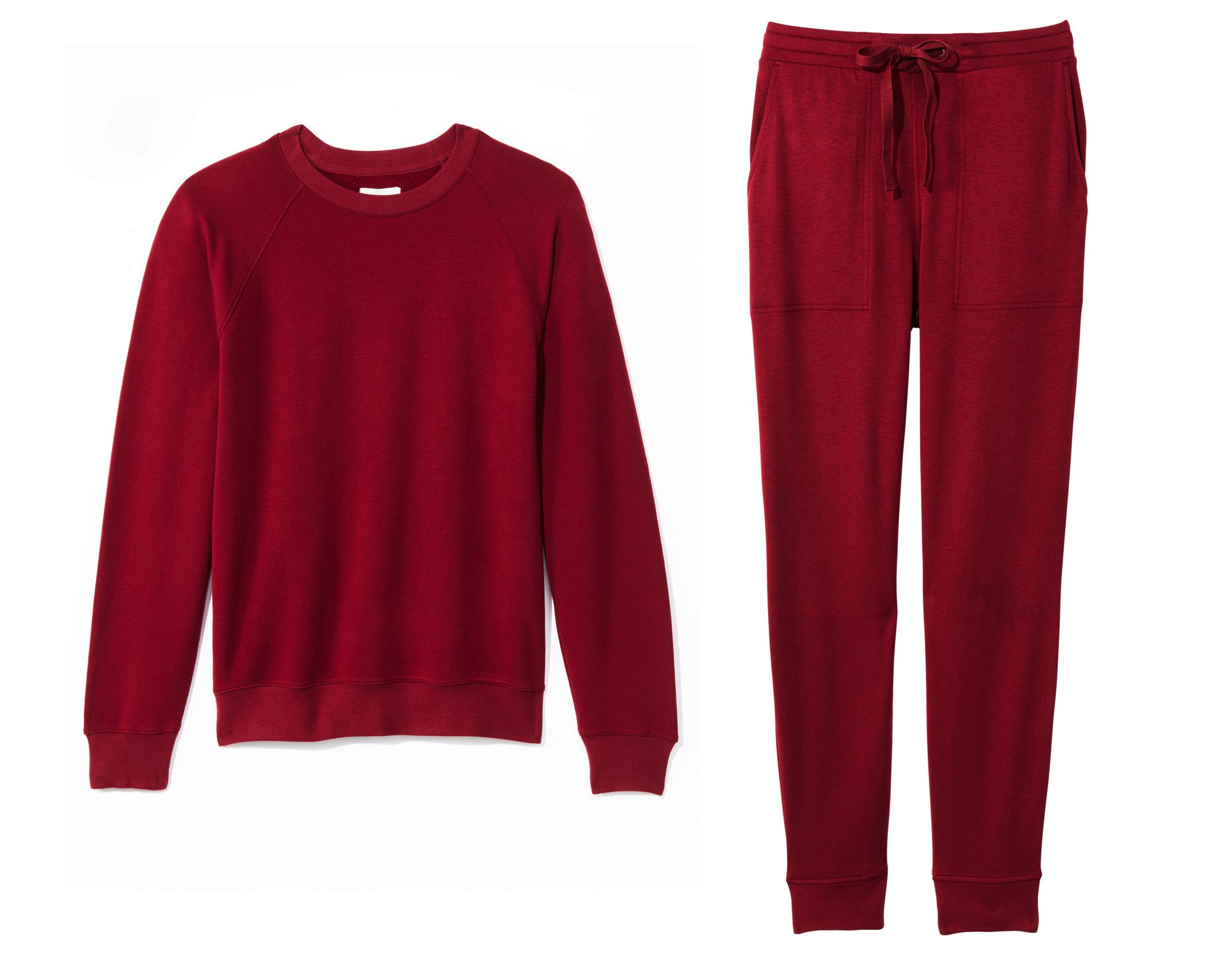 """Make it """"sloungewear,"""" a.k.a. cute sweats that double as pajamas you'll live in long past Valentine's Day.                             Buy It! Lou & Grey Top and Bottom, $69.50 each; louandgrey.com"""