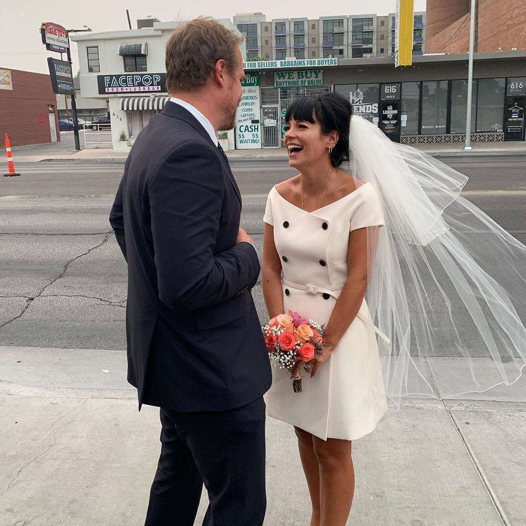 """The """"Smile"""" singer, 35, andStranger Things actor, 45, tied the knot in Las Vegas on Sept. 7, PEOPLE confirmed through court records.                             Both stars posted photos from the low-key ceremony, which was officiated by an Elvis Presley impersonator and followed by a meal of In-N-Out burgers.                             """"In a wedding officiated by the king himself, the people's princess wed her devoted, low born, but kind credit card holder in a beautiful ceremony lit by the ashen skies courtesy of a burning state miles away in the midst of a global pandemic,"""" Harbour captioned his post. """"Refreshments were served at a small reception following.""""                             Although the couple never publicly confirmed an engagement, the singer showcased what appeared to be an engagement ring in an Instagram post in May.                             She seemed to address her sparkler in the comments section, replying, """"First rule of engagement club ........."""" after a fan asked her about the diamond.                             She wasfirst photographed wearing the ring in November.                             The stars were first linked in January 2019, when they attended the BAFTA Tea Party together."""
