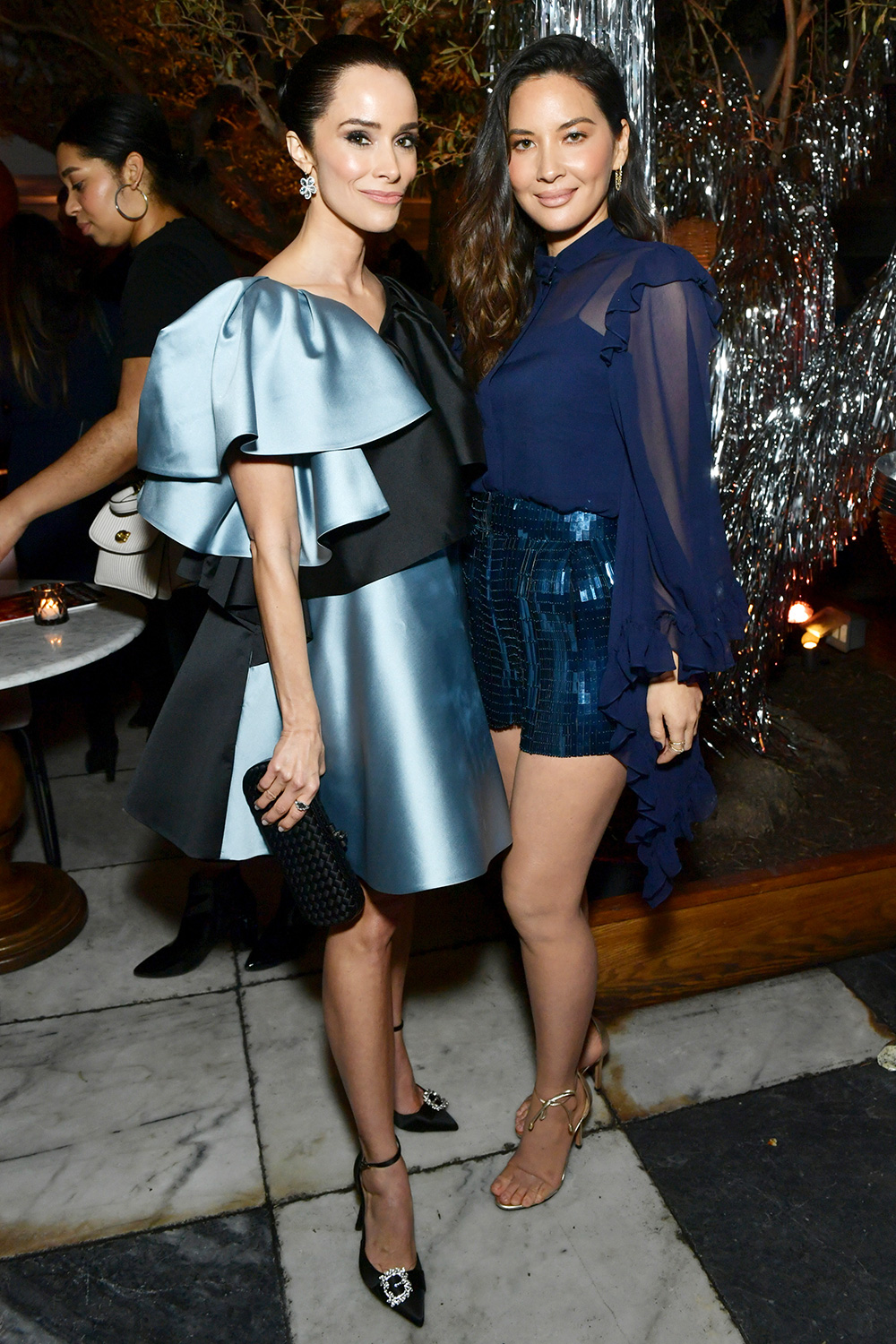 Abigail Spencer and Olivia Munn attend Vanity Fair and Lancôme Toast Women in Hollywood on February 06, 2020 in Los Angeles, California