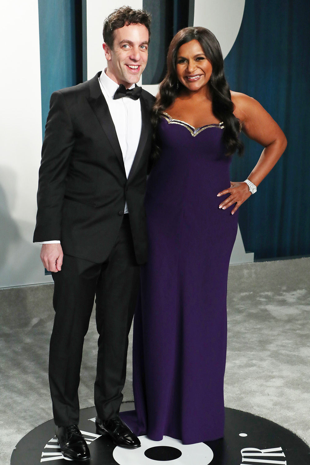 BJ Novak and Mindy Kaling Vanity Fair Oscar Party, Arrivals, Los Angeles, USA - 09 Feb 2020