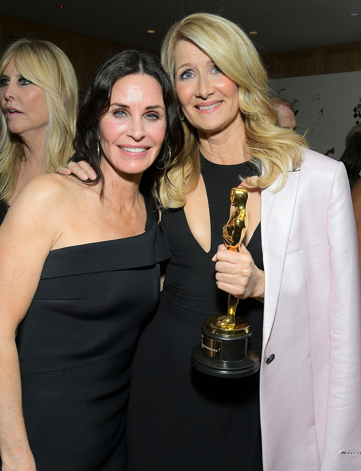 Courteney Cox and Laura Dern attend the 2020 Netflix Oscar After Party at San Vicente Bugalows on February 09, 2020 in West Hollywood