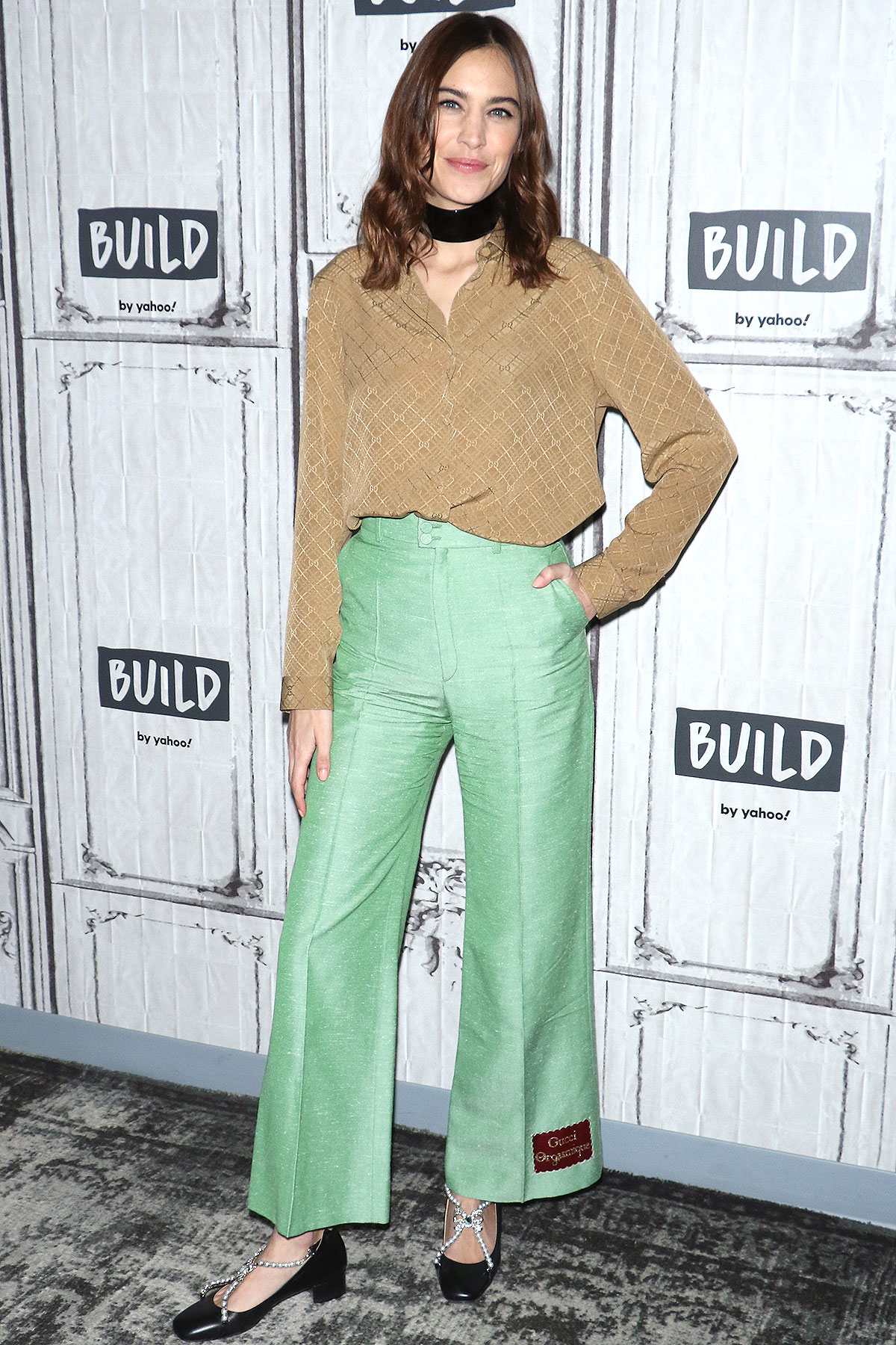 """TV Personality Alexa Chung attends the Build Series to discuss """"Next in Fashion"""" at Build Studio on February 03, 2020 in New York City."""