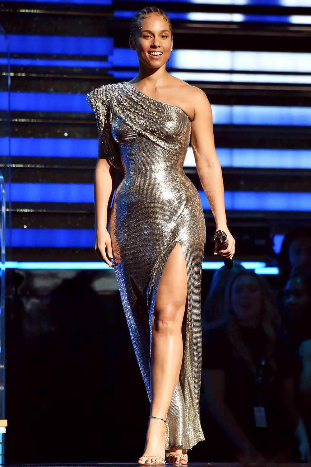 Alicia Keys speaks onstage during the 62nd Annual GRAMMY Awards at STAPLES Center on January 26, 2020 in Los Angeles