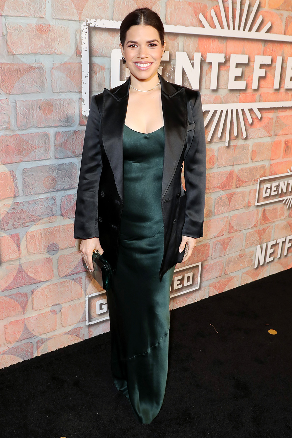America Ferrera attends the premiere of Netflix's GENTIFIED Season 1 at Margo Albert Theatre on February 20, 2020 in Los Angeles, California