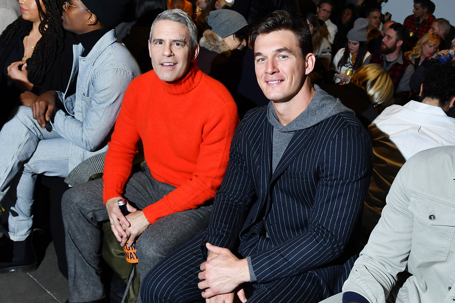 Andy Cohen and Tyler Cameron Todd Snyder show, Front Row, Fall Winter 2020, New York Fashion Week Men's, USA - 05 Feb 2020