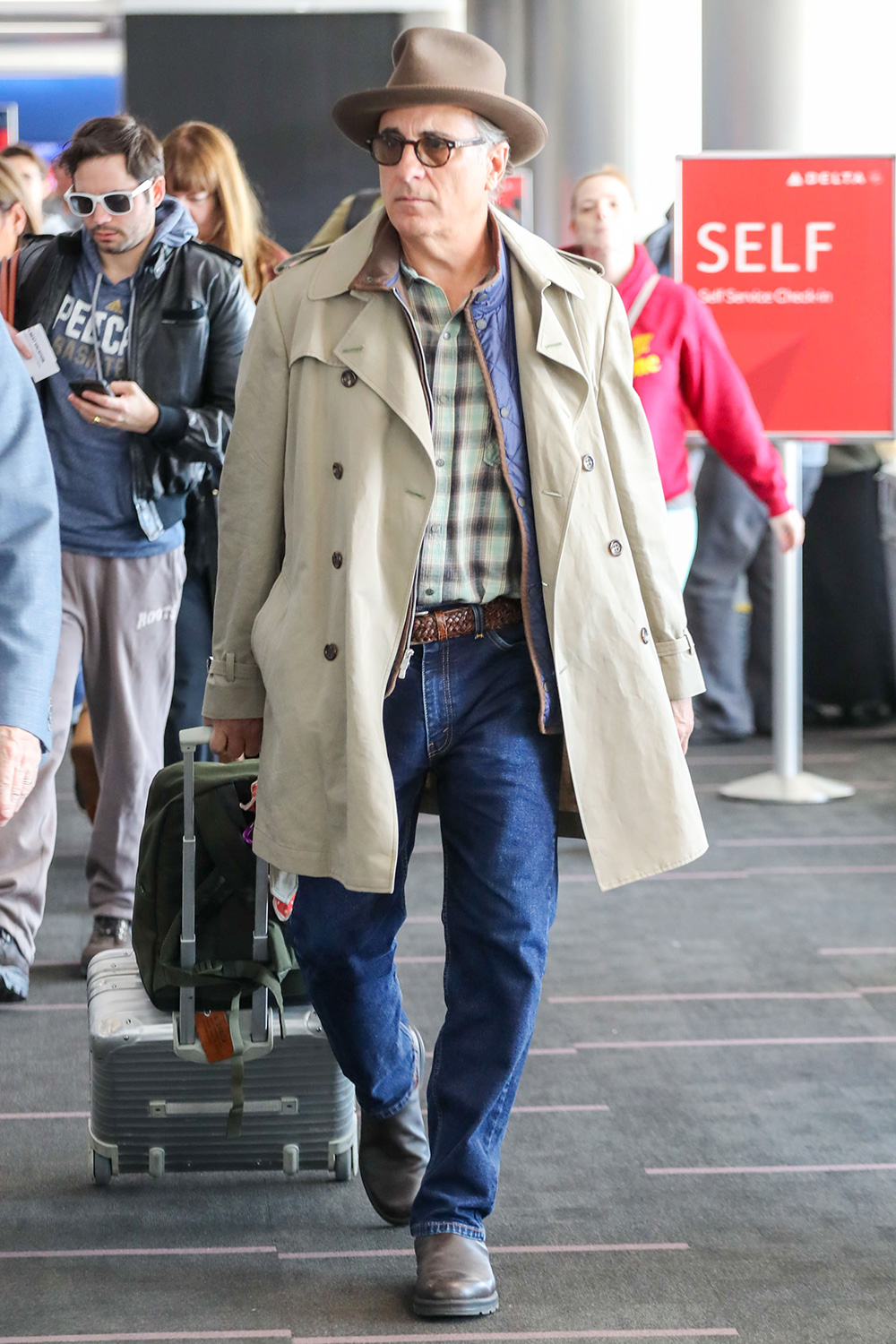 Andy Garcia is seen at LAX in Los Angeles, California.