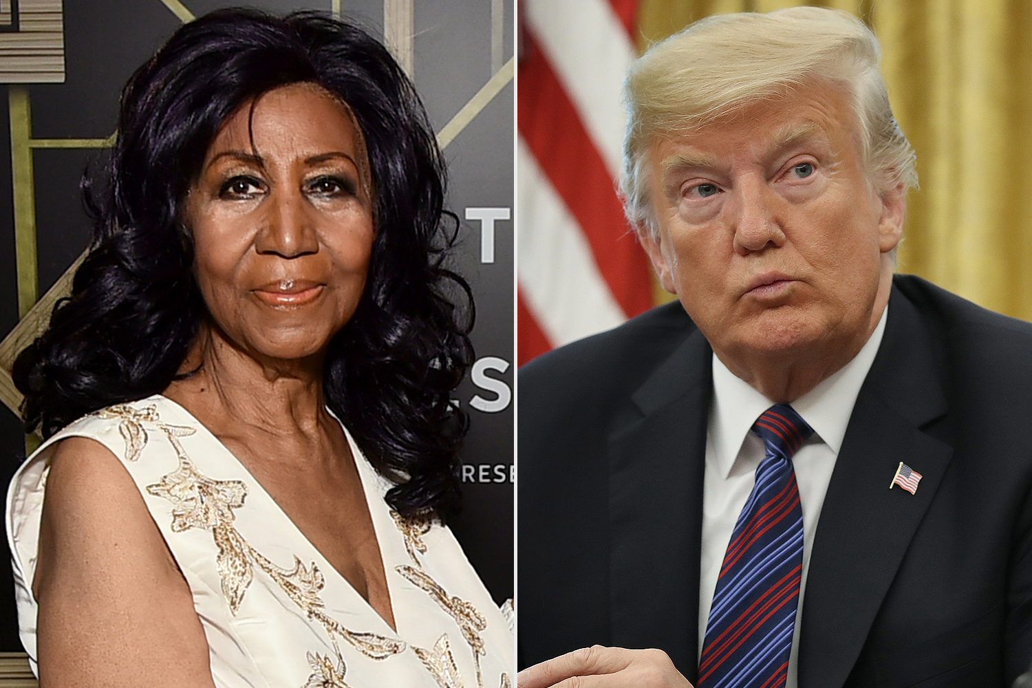 Aretha Franklin, Donald Trump