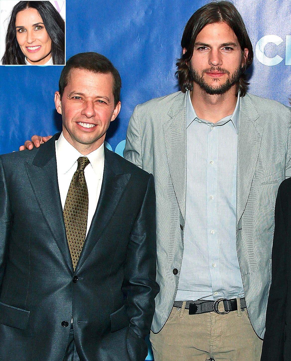 Jon Cryer, Ashton Kutcher, Demi Moore
