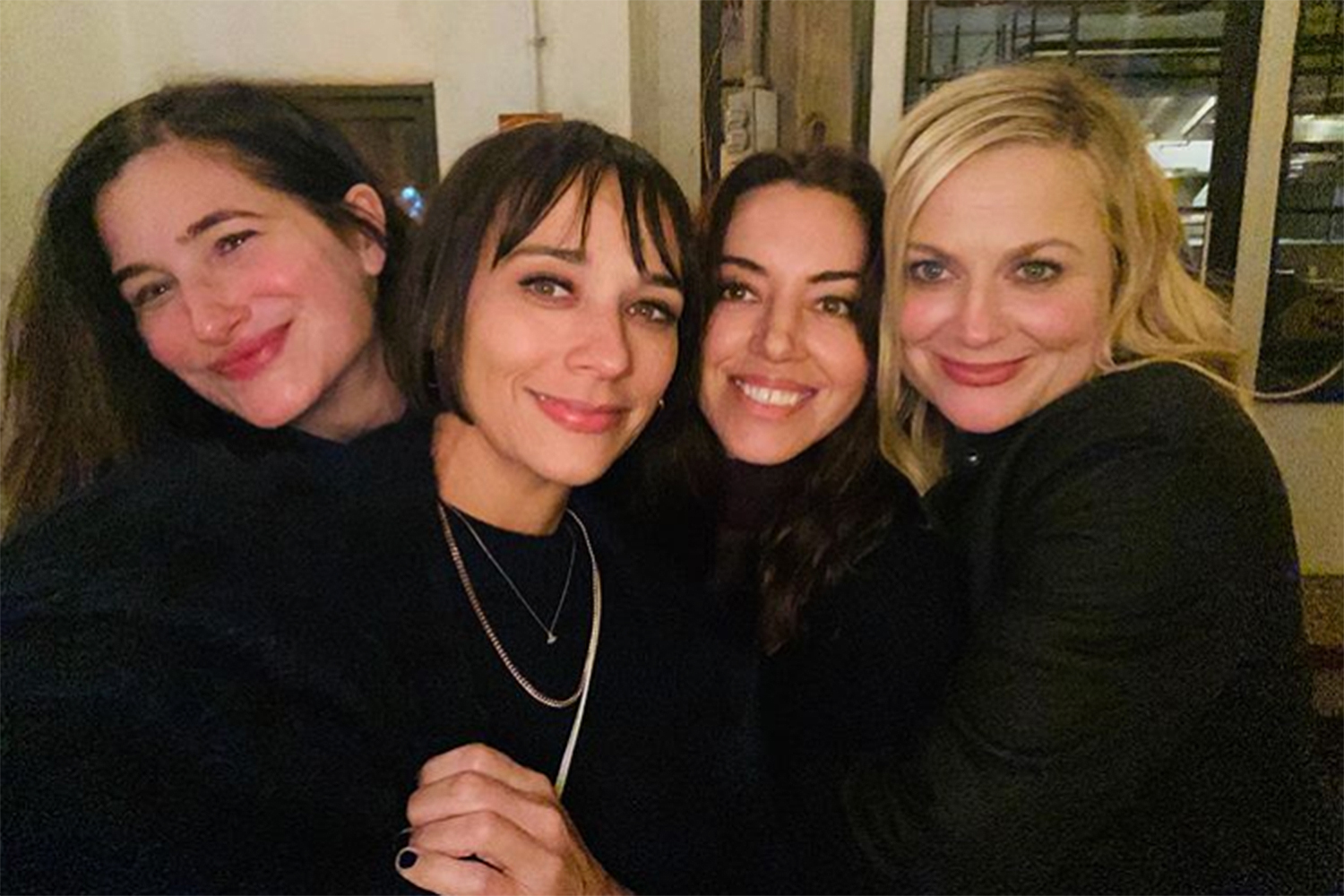Aubrey Plaza Parks and Rec reunion