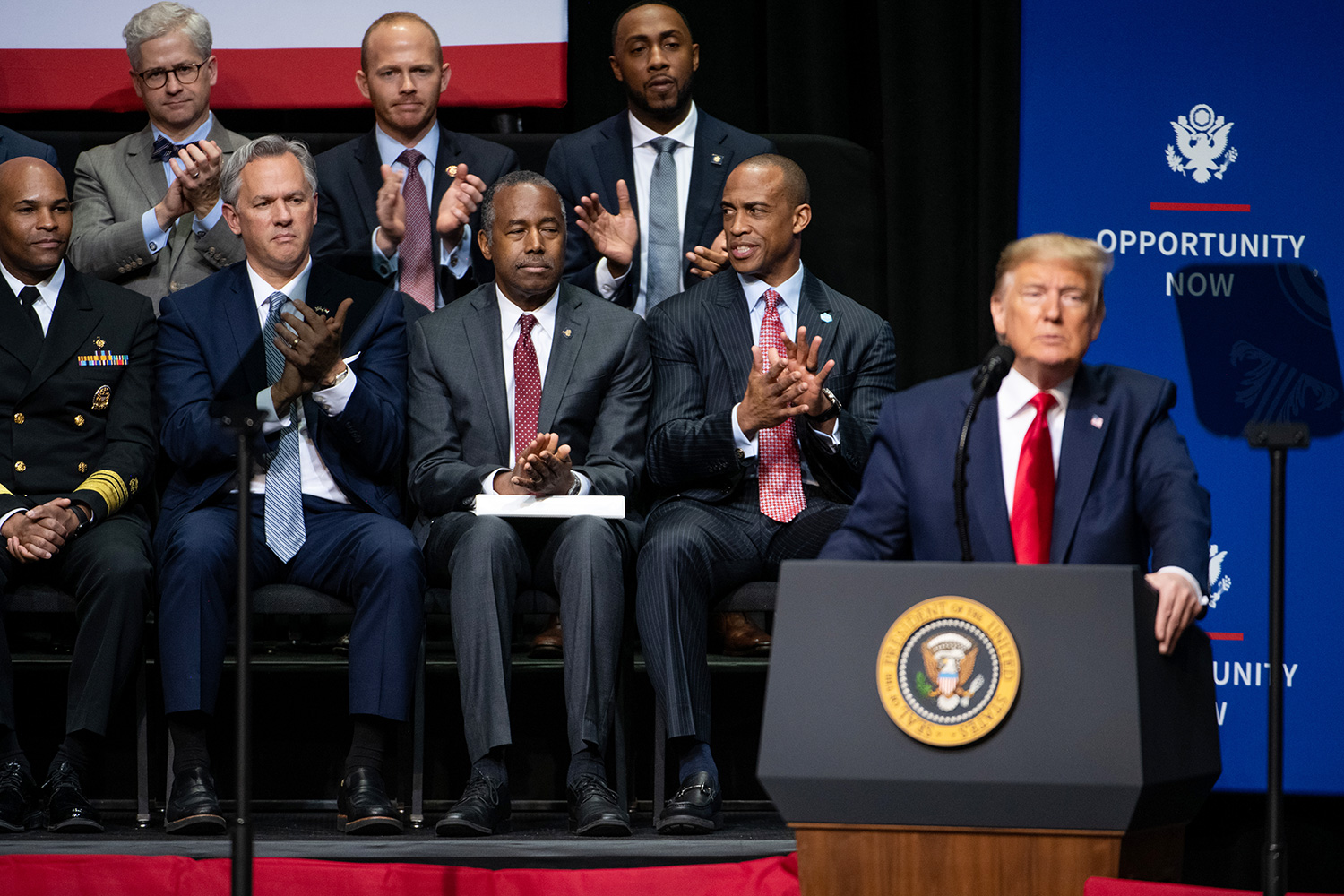 President Trump Speaks At Opportunity Now Summit In North Carolina