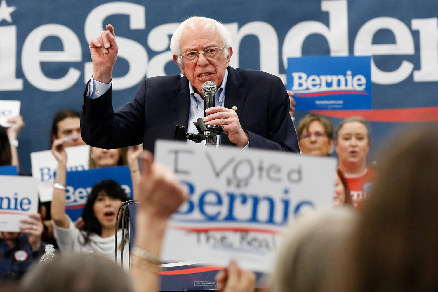 Democratic presidential candidate Sen. Bernie Sanders I-Vt., speaks at a campaign event in Carson City, Nev Election 2020 Bernie Sanders, Carson City, USA - 16 Feb 2020