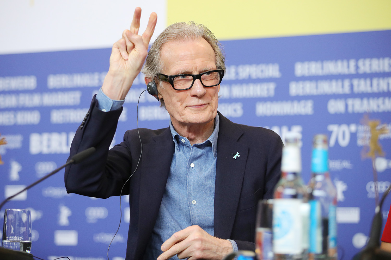"""Bill Nighy attends the """"Minamata"""" press conference during the 70th Berlinale International Film Festival Berlin at Grand Hyatt Hotel on February 21, 2020 in Berlin, Germany"""
