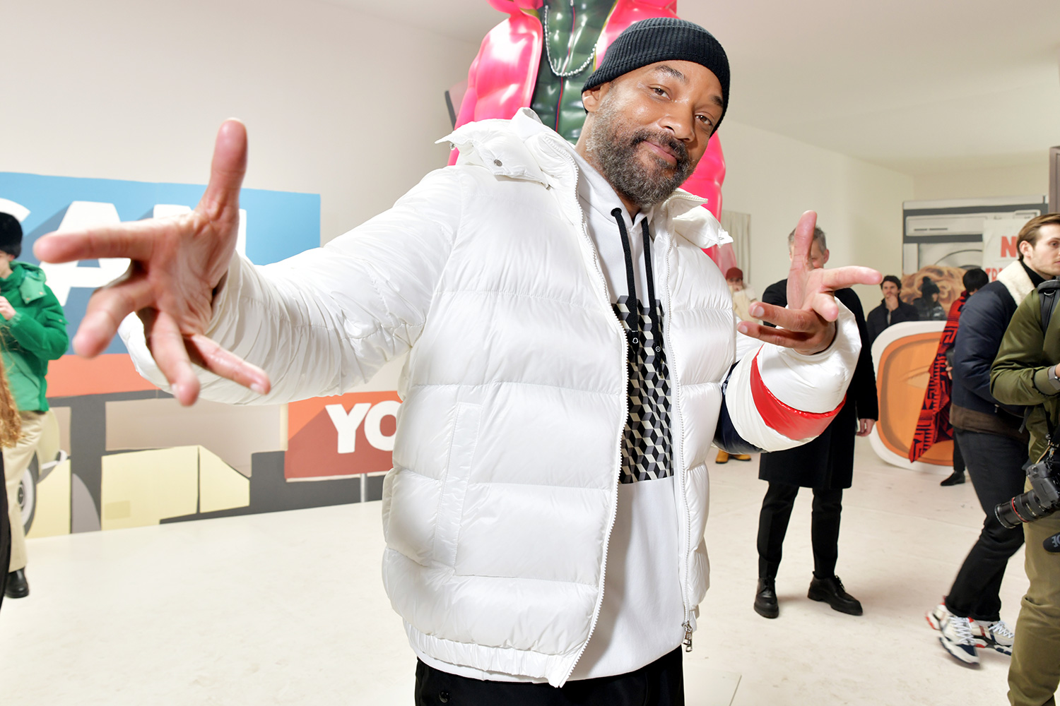 Will Smith in the front row Moncler presentation, Front Row, Fall Winter 2020, Milan Fashion Week, Italy - 19 Feb 2020