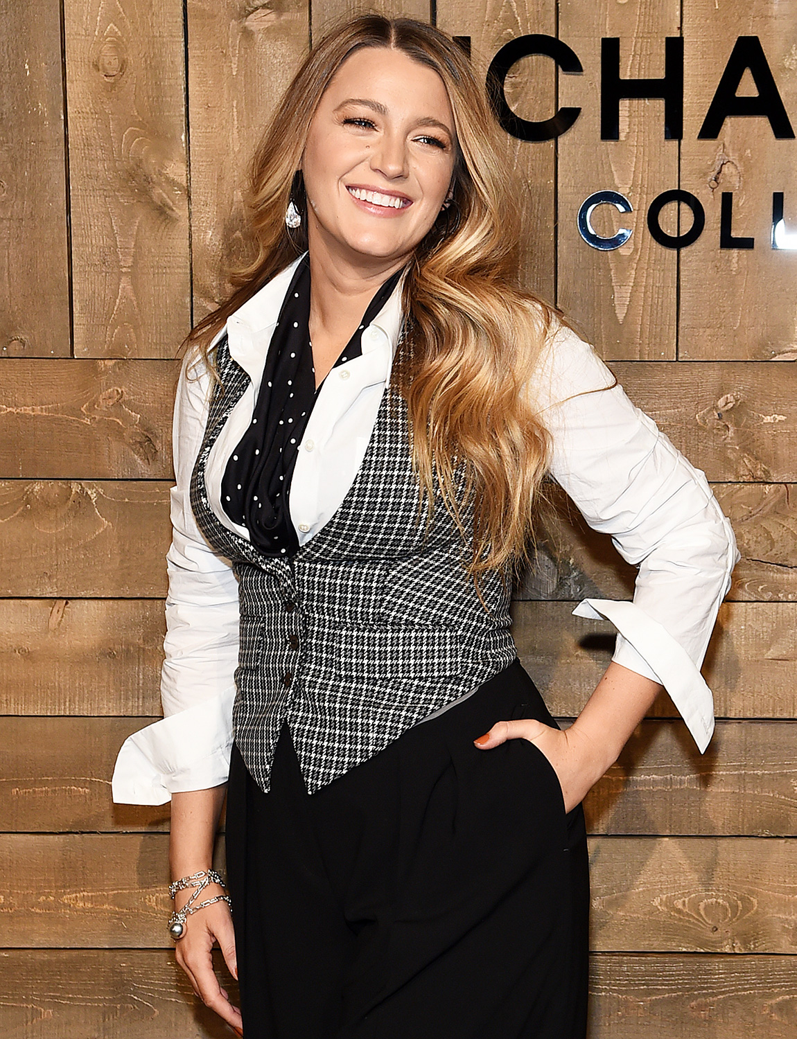 Blake Lively attends the Michael Kors FW20 Runway Show on February 12, 2020 in New York City