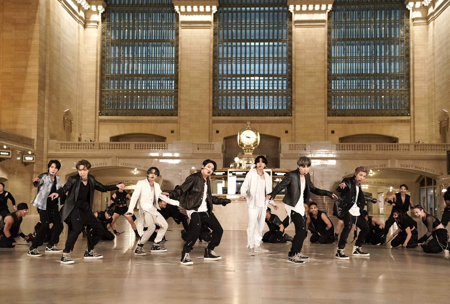 BTS performs in Grand Central Terminal