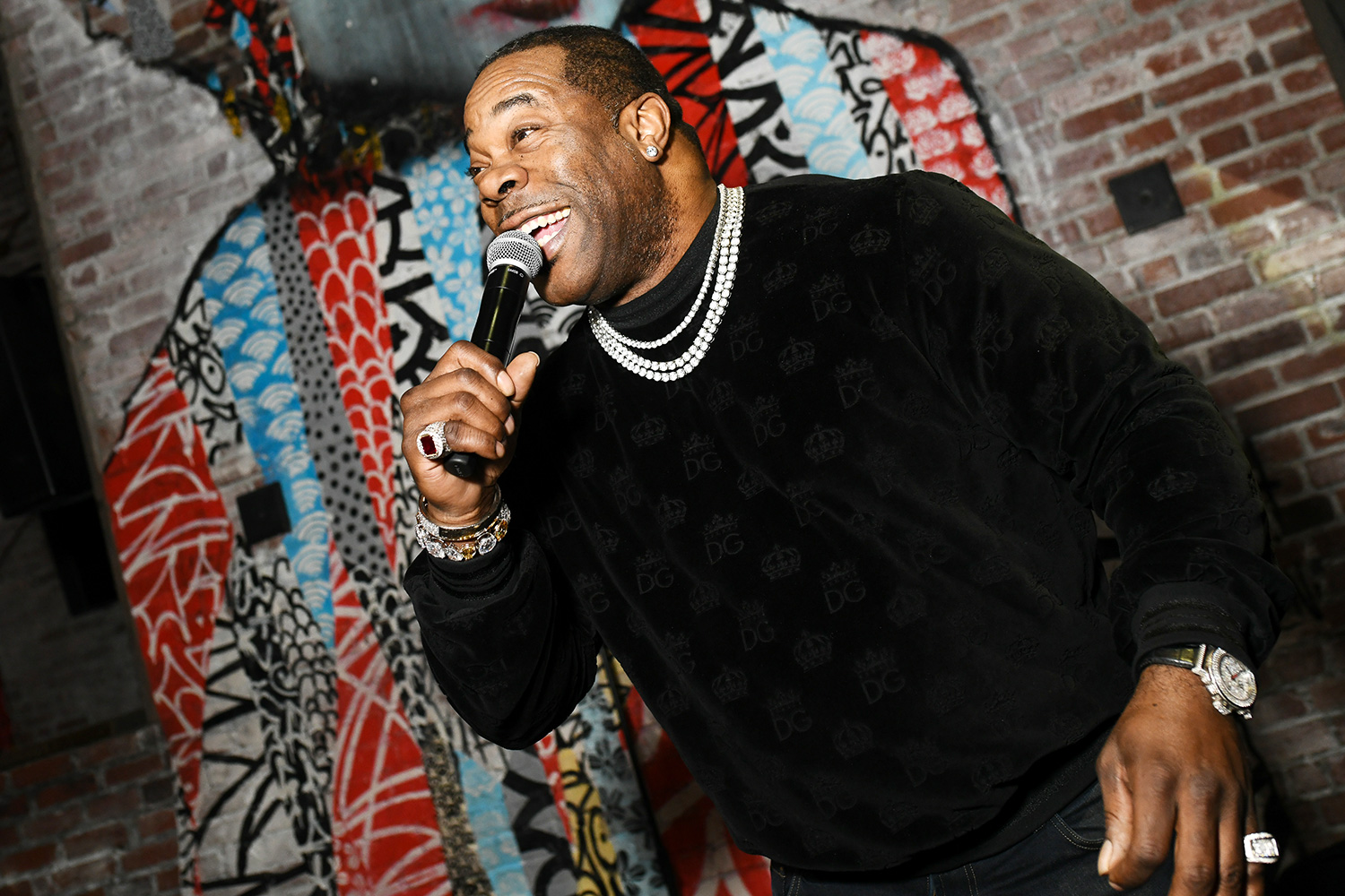 Busta Rhymes Performs at Teaching Matters Celebrates A Night Out At TAO Downtown To Benefit Early Reading Featuring Busta Rhymes at TAO Downtown on February 20, 2020 in New York City