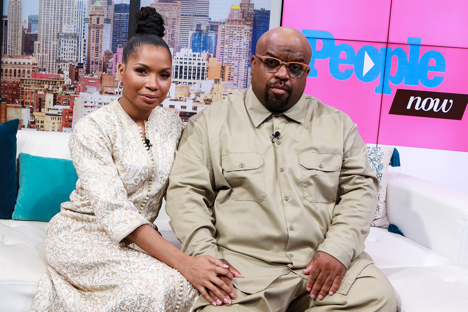 Shani James and CeeLo Green visit People Now on February 12, 2020 in New York