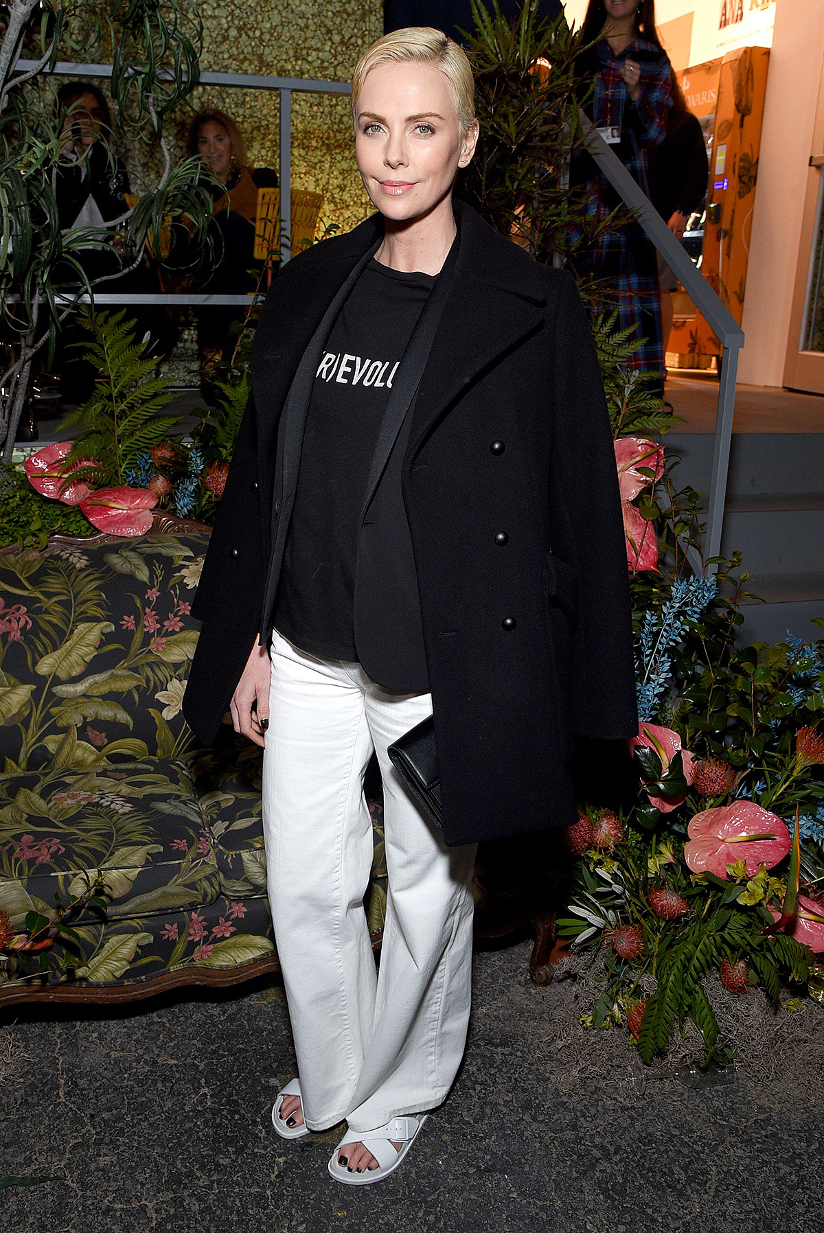 Charlize Theron BIRKENSTOCK 1774 Collection with MATCHESFASHION Launch Party, Inside, Paramount Pictures Studios, Los Angeles, USA - 13 Feb 2020