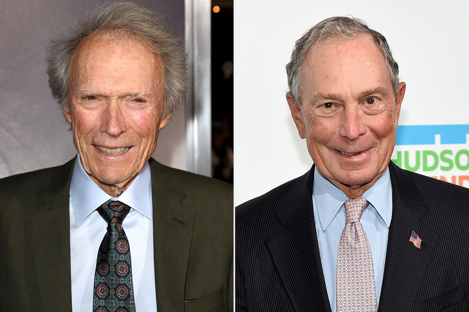 Clint Eastwood and Mike Bloomberg
