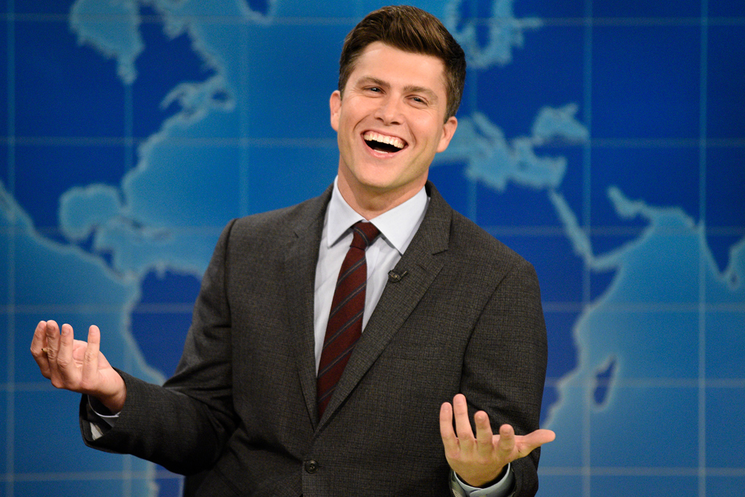 Colin Jost Says He S Undecided About His Future On Snl People Com
