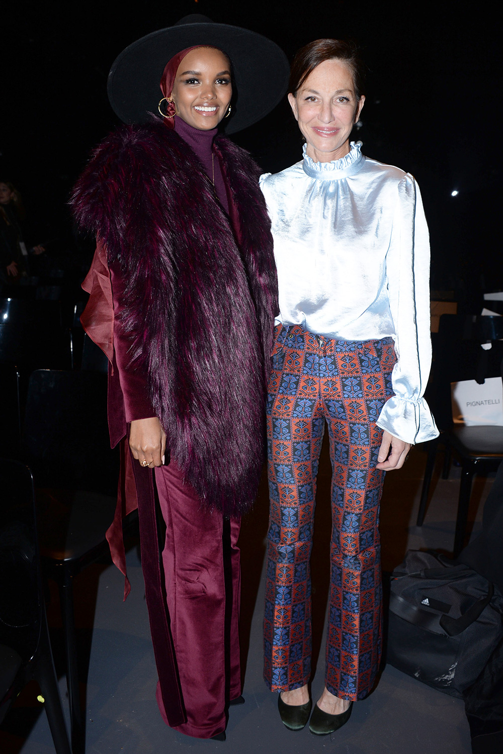 """Halima Aden and Cynthia Rowley attend New York Premiere Of """"I Am You"""" at Pier 59 Studios on February 6, 2020 in New York City"""