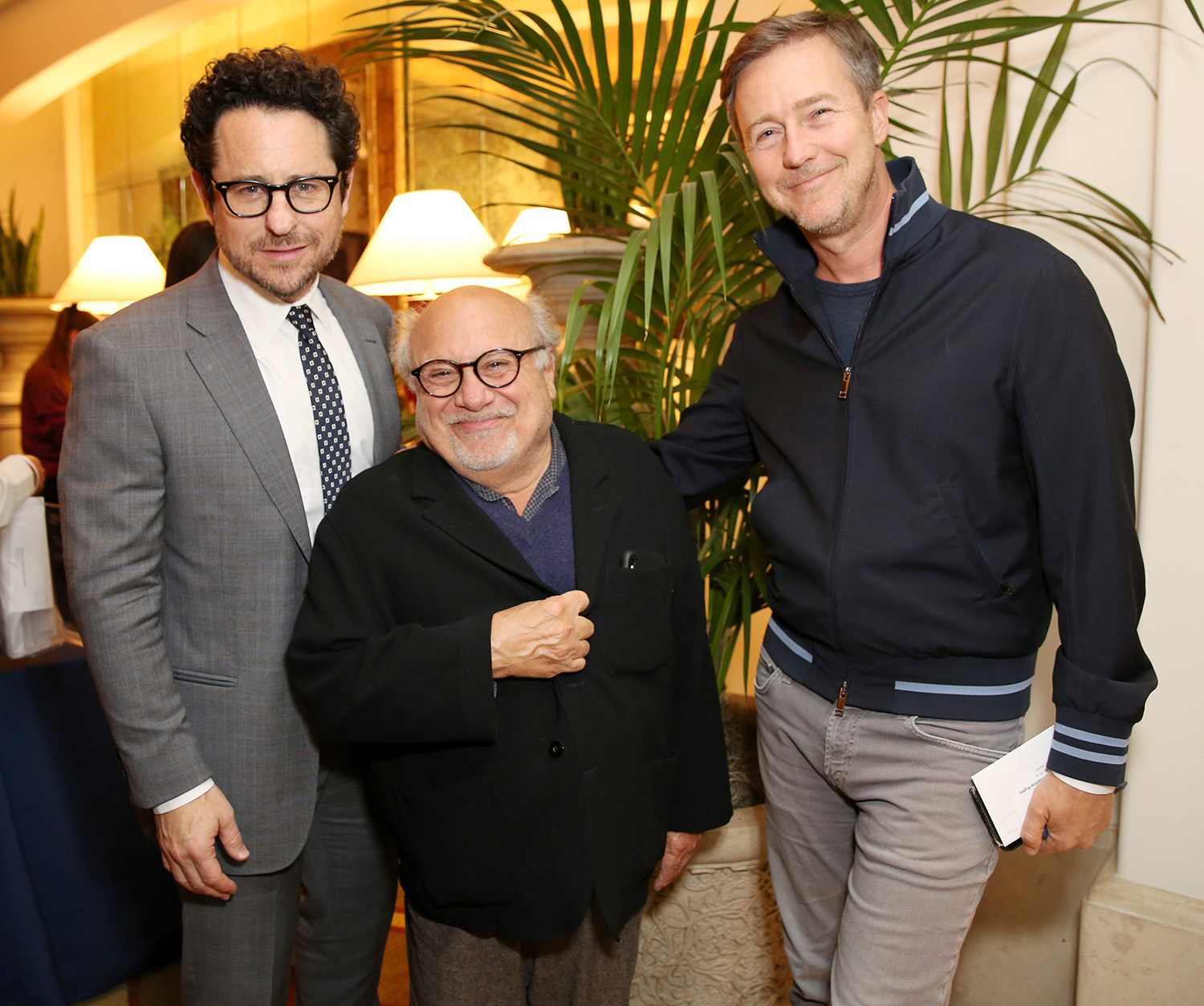 J.J. Abrams, Danny DeVito and Edward Norton attend The Center for Reproductive Rights 2020 Los Angeles Benefit on February 27, 2020 in Beverly Hills, California