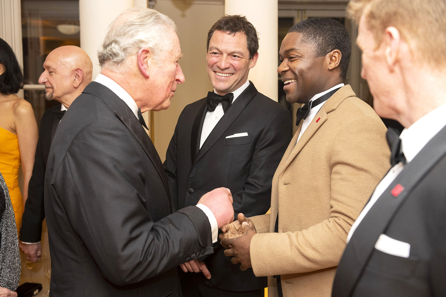 Prince Charles with Dominic West and David Oyelowo The Prince's Trust Invest in Futures Gala, London, UK - 13 Feb 2020