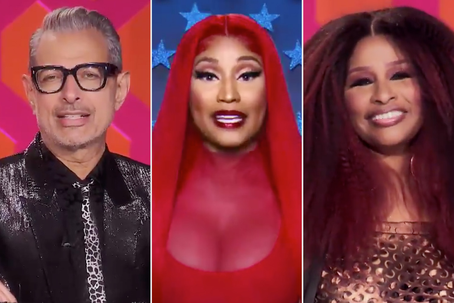 Chaka Khan, Jeff Goldblum, and Nicki Minaj guest judge on RuPaul's Drag Race