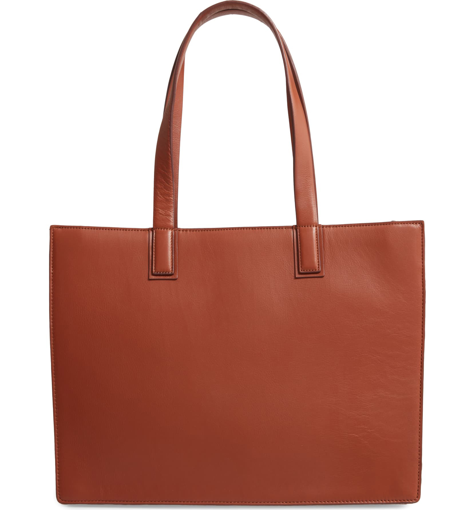 NORDSTROM Concertina Leather Accordion Tote, Main, color, BROWN TOFFEE Concertina Leather Accordion Tote NORDSTROM