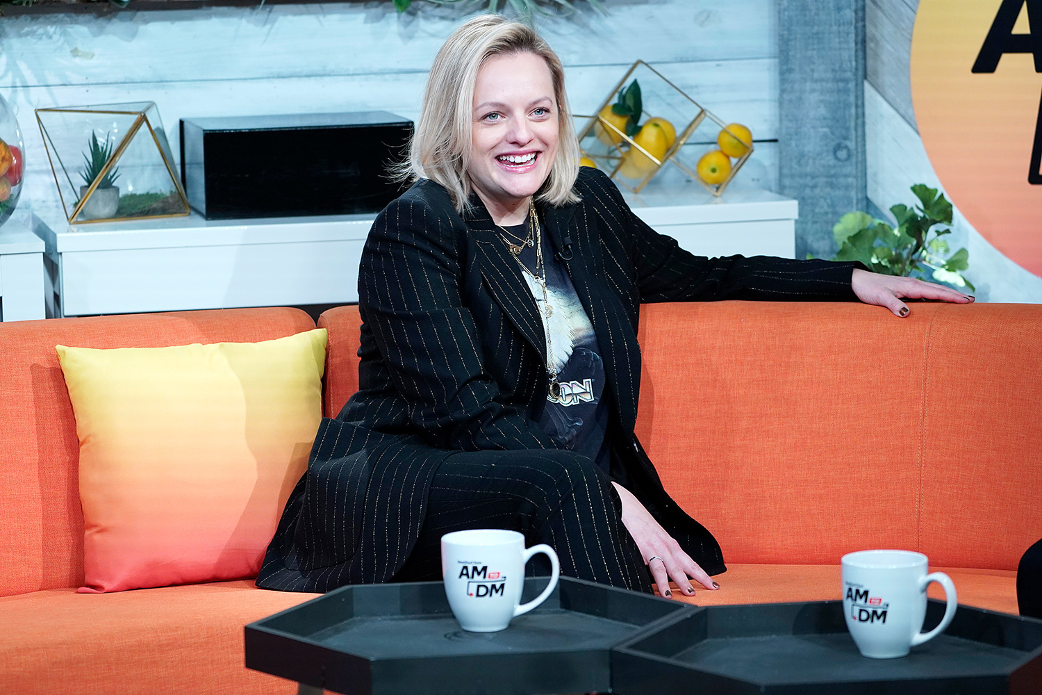 """Elisabeth Moss visits BuzzFeed's """"AM To DM"""" on February 27, 2020 in New York City"""