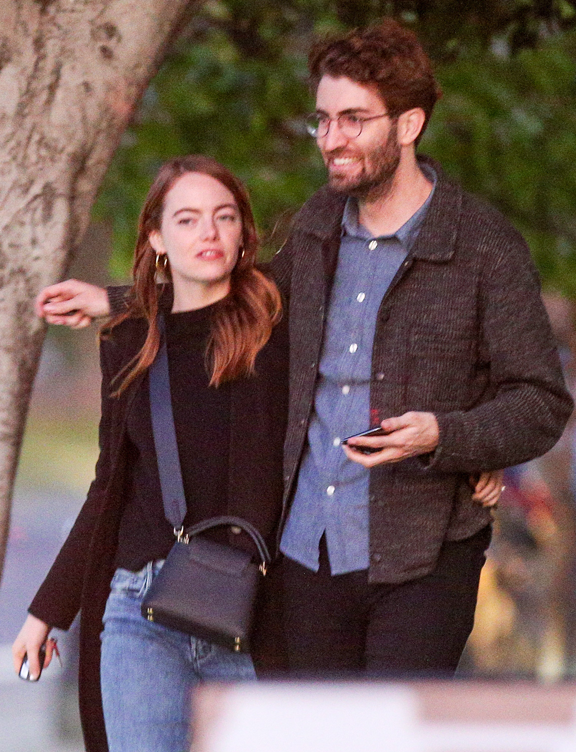 Emma Stone and fiancee Dave McCary show some rare PDA in Los Angeles