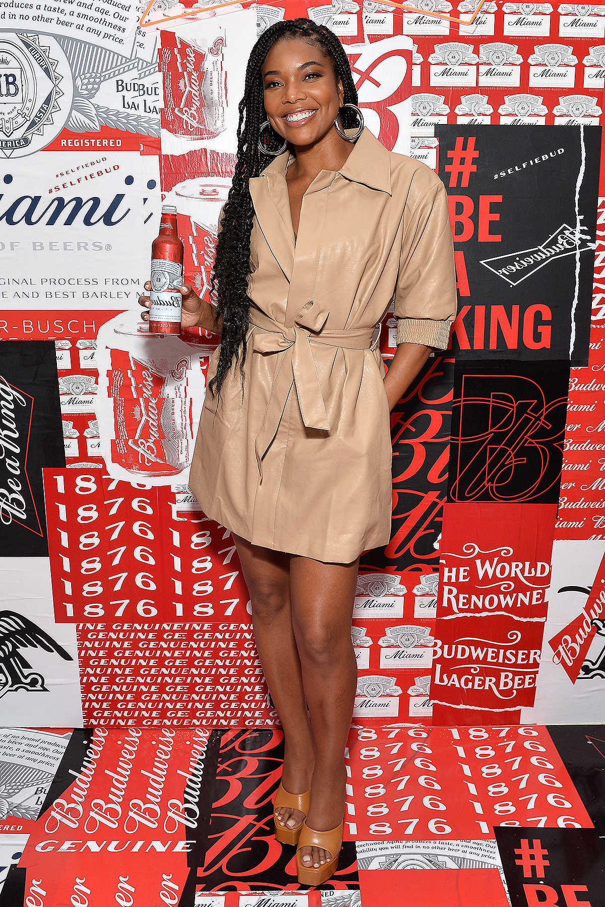 Gabrielle Union attends Night Two of BUDX Miami by Budweiser on February 01, 2020 in Miami Beach, Florida.