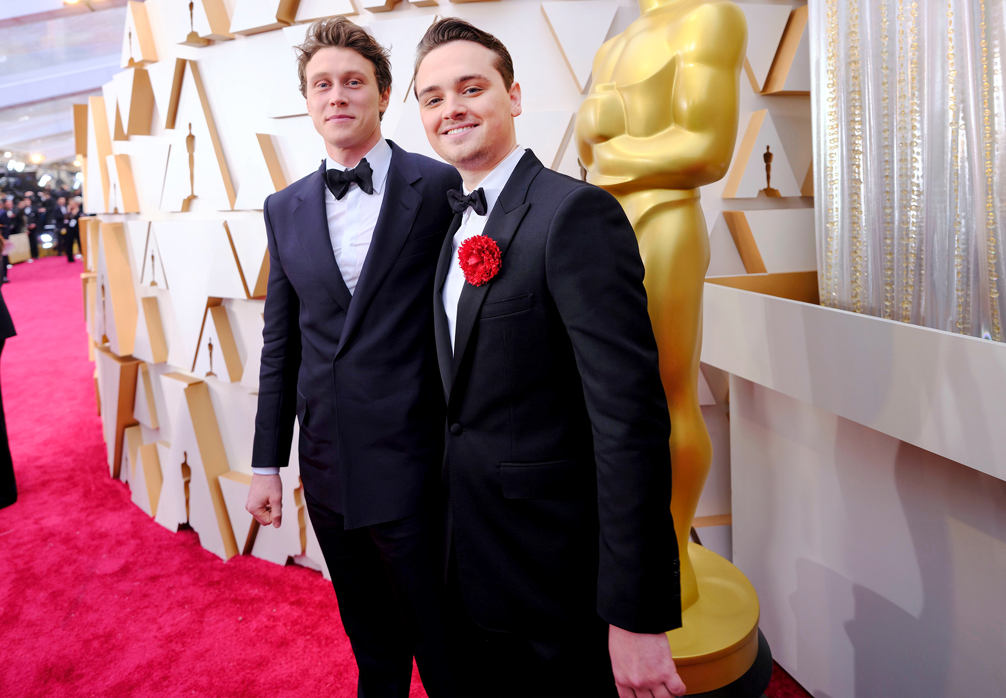 George MacKay and Dean-Charles Chapman 92nd Annual Academy Awards, Roaming Arriv