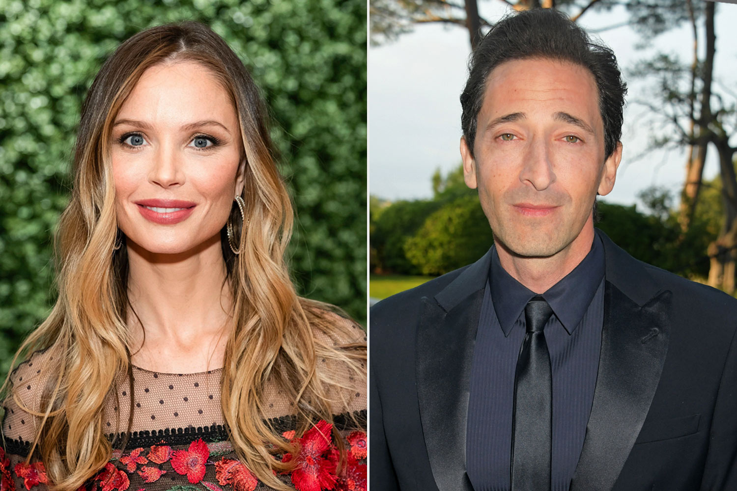 Georgina Chapman and Adrien Brody