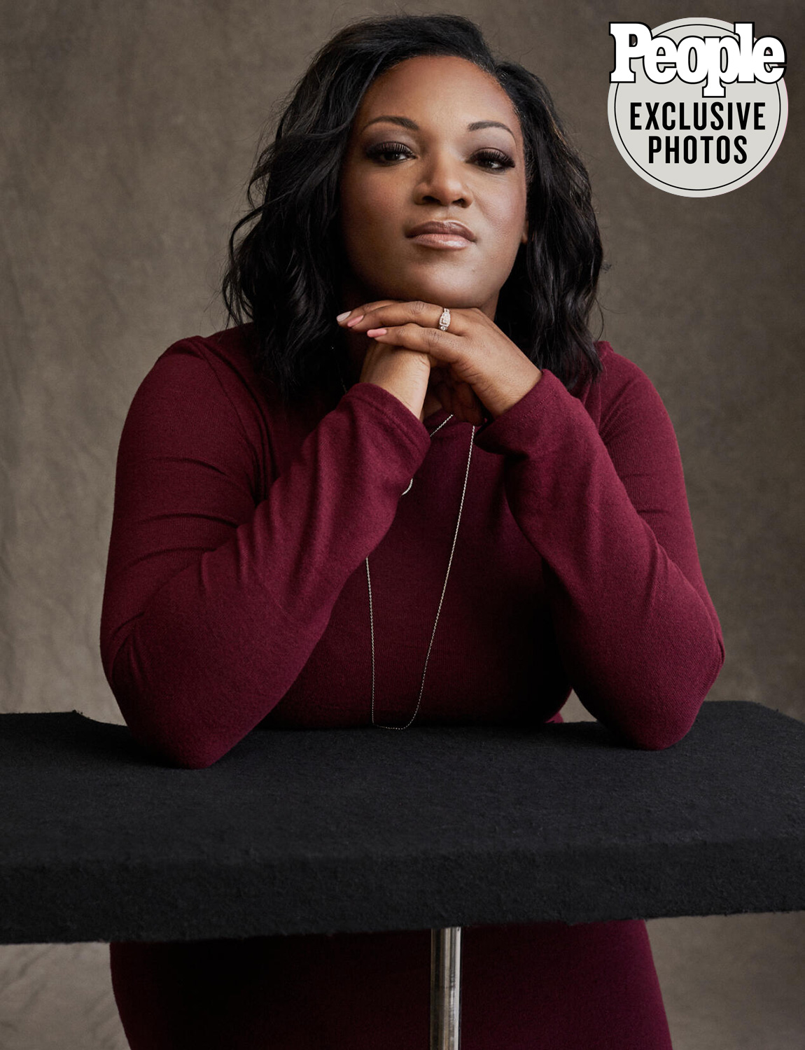 Gun survivors round table: DeAndra Yates whose son was shot by a stray bullet at a birthday party and can no longer walk. New York, January 11, 2020