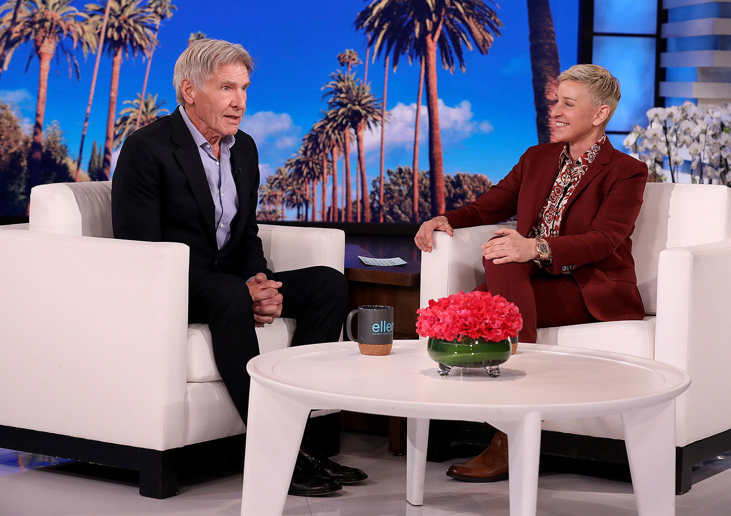 Harrison Ford and Ellen DeGeneres