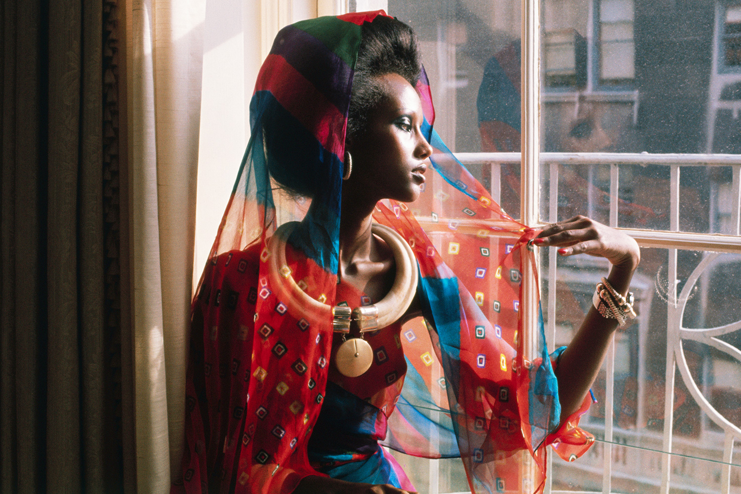New York's newest fashion face, model Iman (full name Iman Mohamed Abdulmajid), a 20-year-old, 5-10, regally striking Somali tribeswoman, launches her modeling career at a press conference here