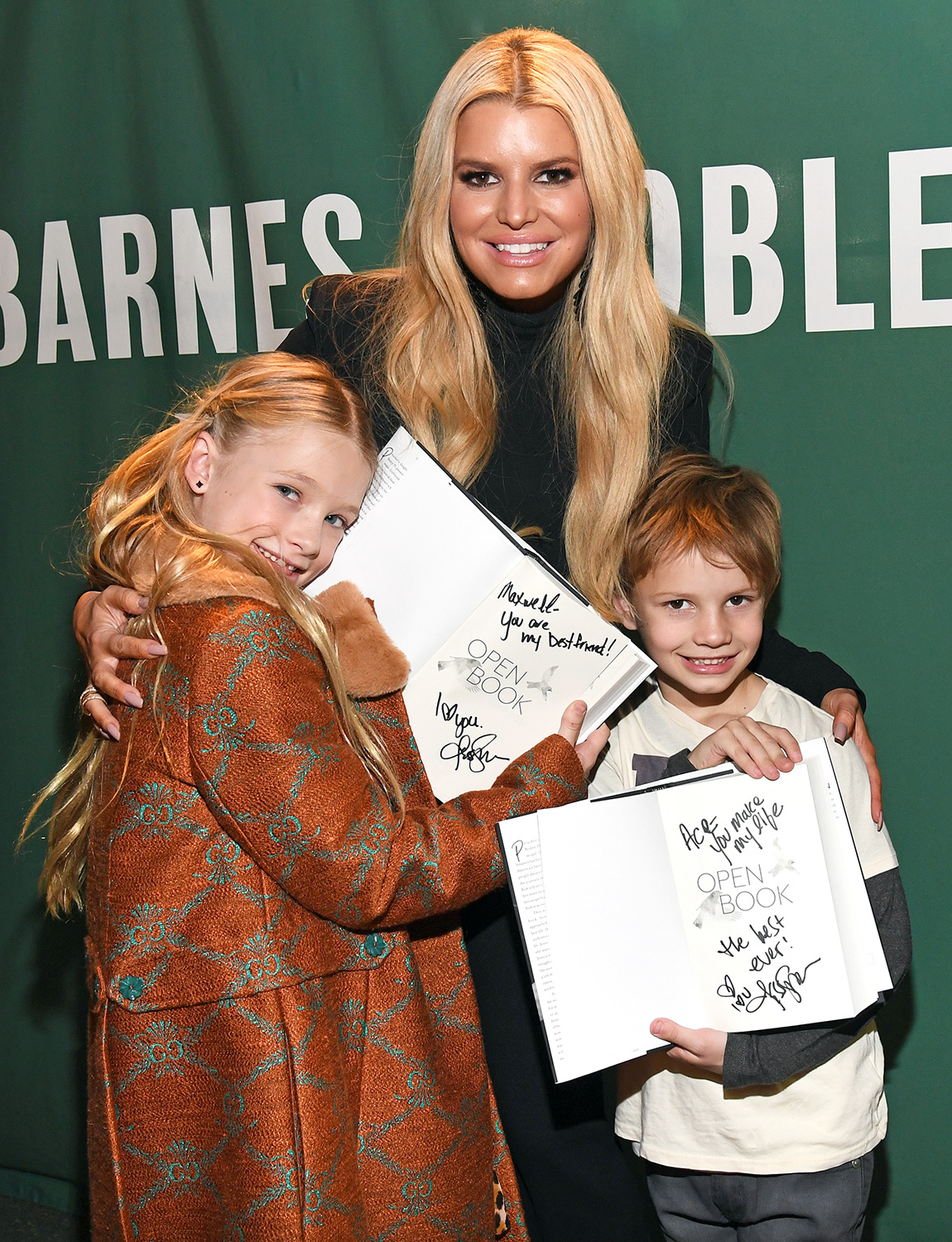"Jessica Simpson signs copies of her new book ""Open Book"" for her children Maxwell Drew Johnson and Ace Knute Johnson at Barnes & Noble Union Square on February 04, 2020 in New York City"