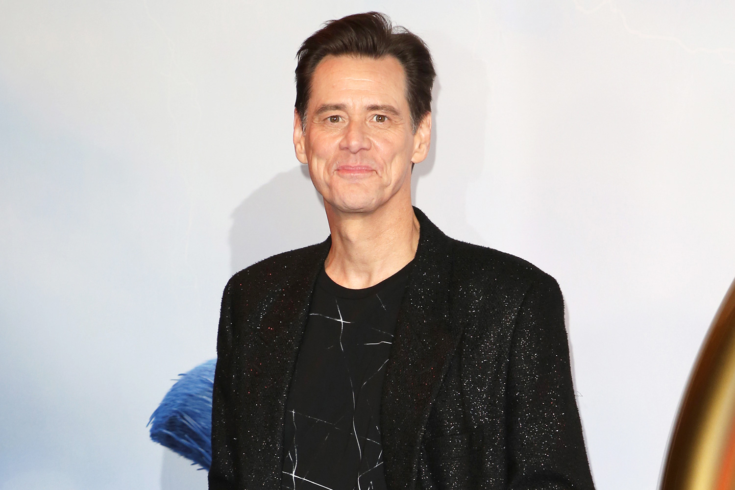 "Jim Carrey attends the ""Sonic The Hedgehog"" Gala Screening at Vue Westfield on January 30, 2020 in London, England"