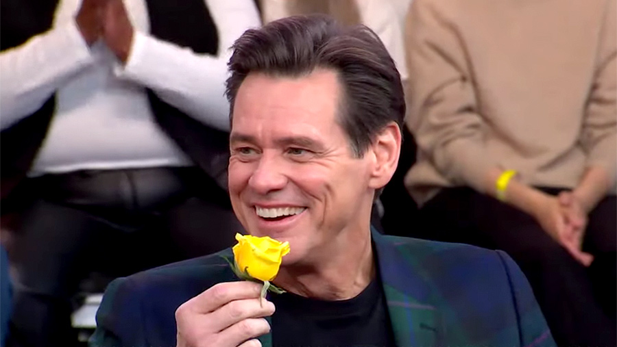 Jim Carrey Boasts of Taking Over the World and Attempts to Play Football in Wild GMA interview