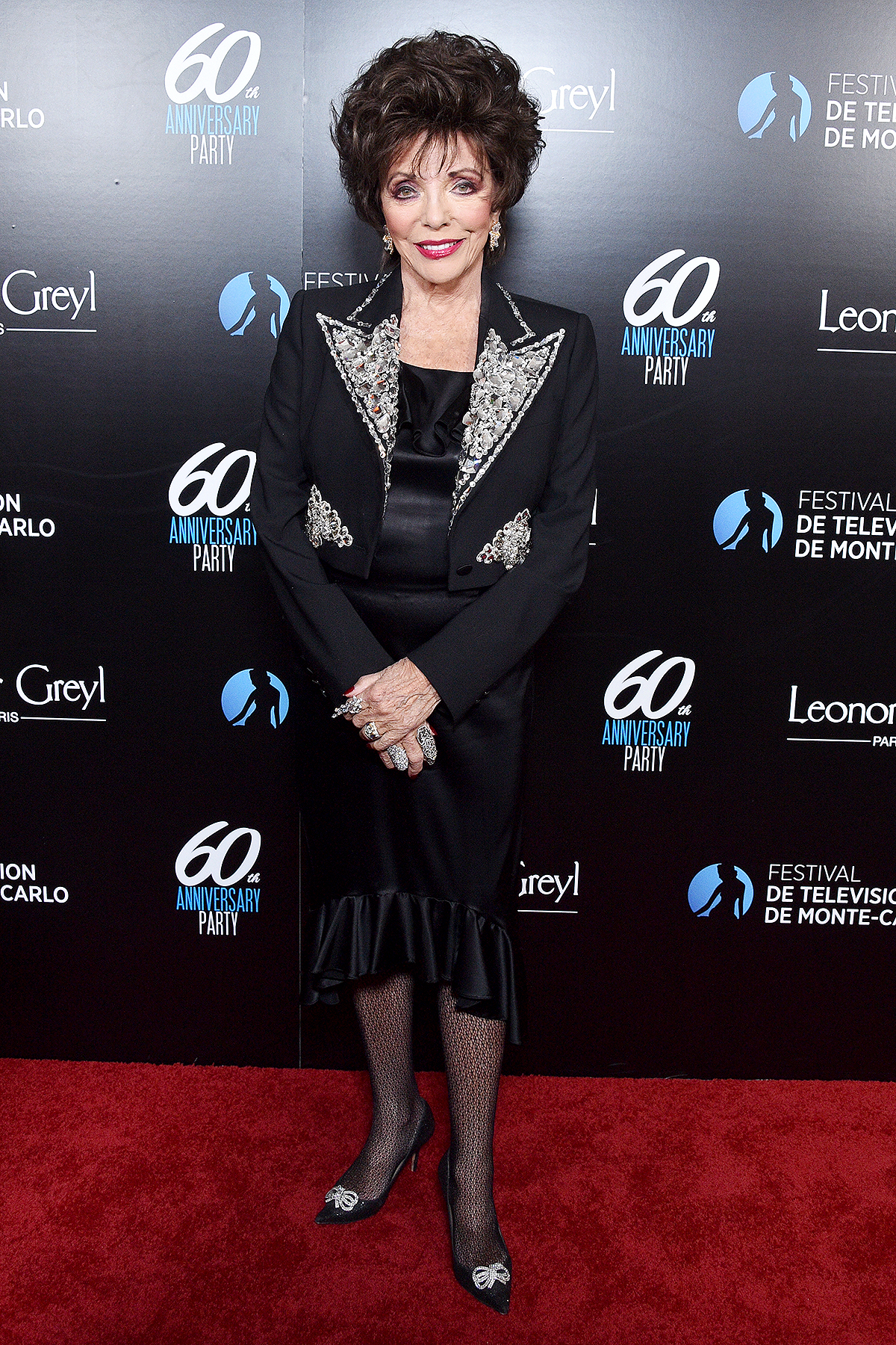Joan Collins attends the 60th Anniversary Party For The Monte-Carlo TV Festival at Sunset Tower Hotel on February 05, 2020