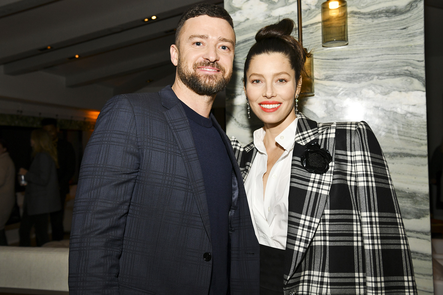 "Justin Timberlake and Jessica Biel pose for portrait at the Premiere of USA Network's ""The Sinner"" Season 3 on February 03, 2020 in West Hollywood, California"