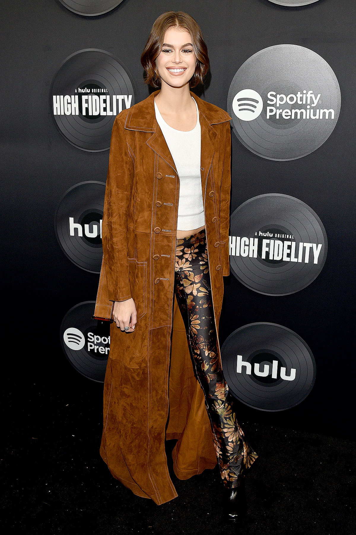 "Kaia Gerber attends the ""High Fidelity"" New York Premiere at The Metrograph on February 13, 2020 in New York City."