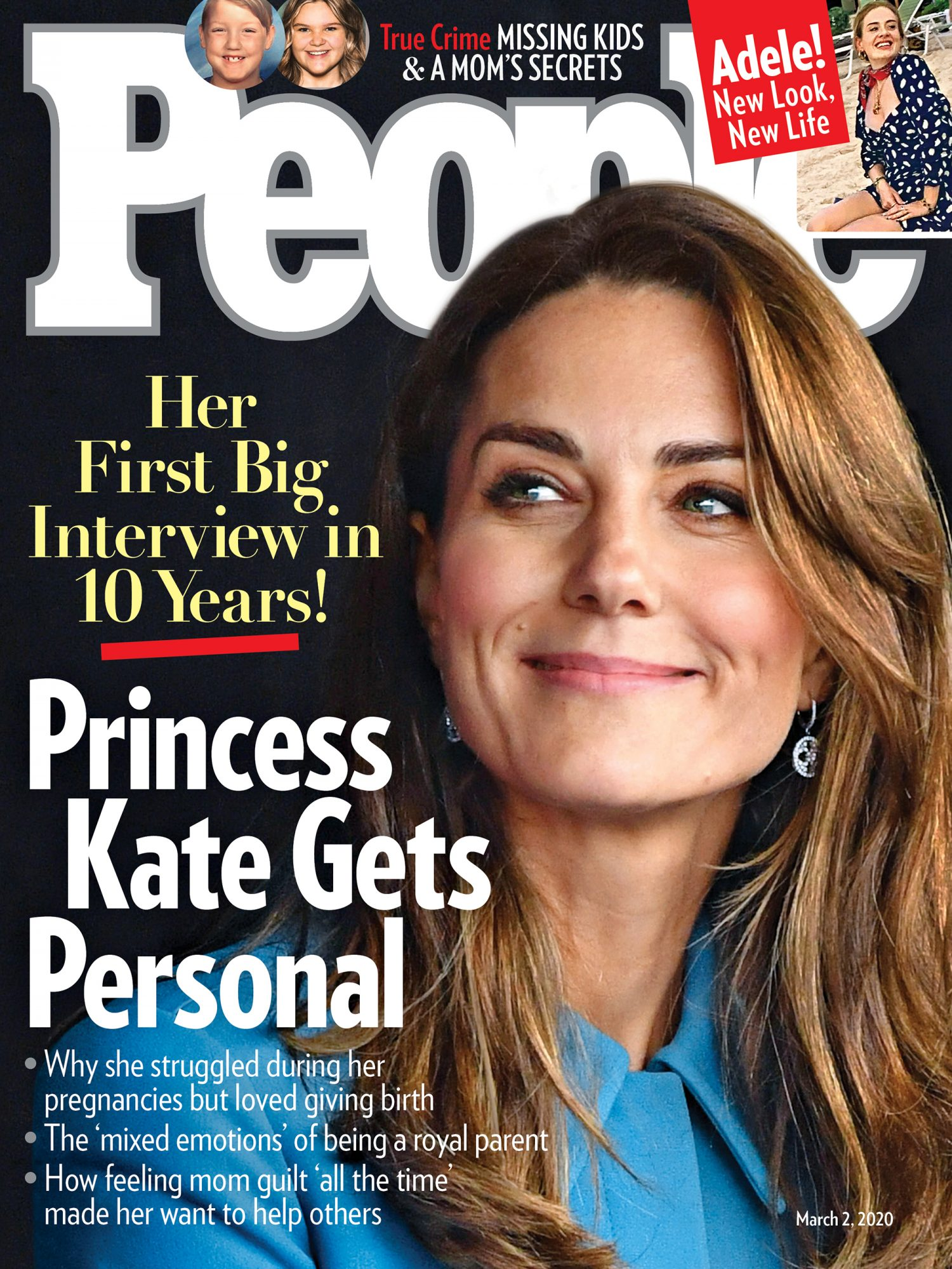 "over of people magazine featuring Kate Middleton with the headline ""princess Kate gets personal"""