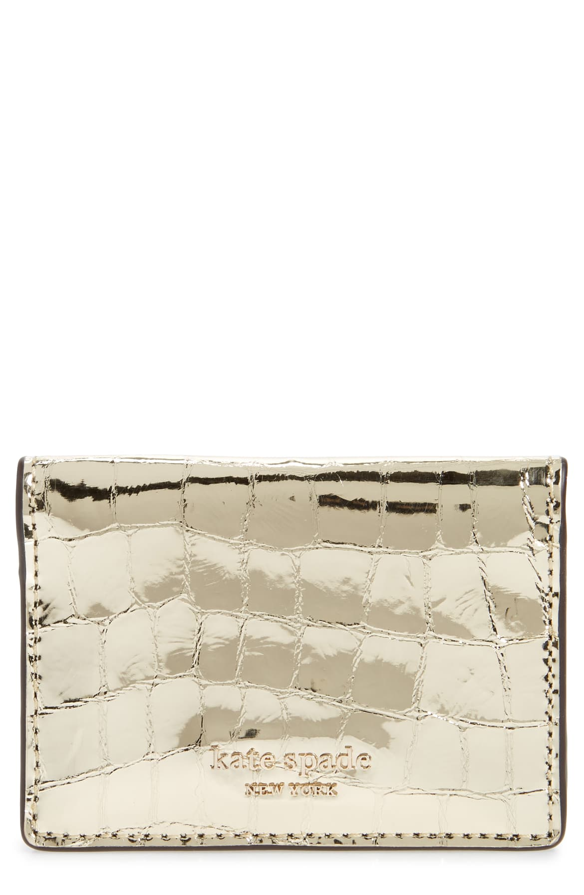 kate spade gold card case nordstrom