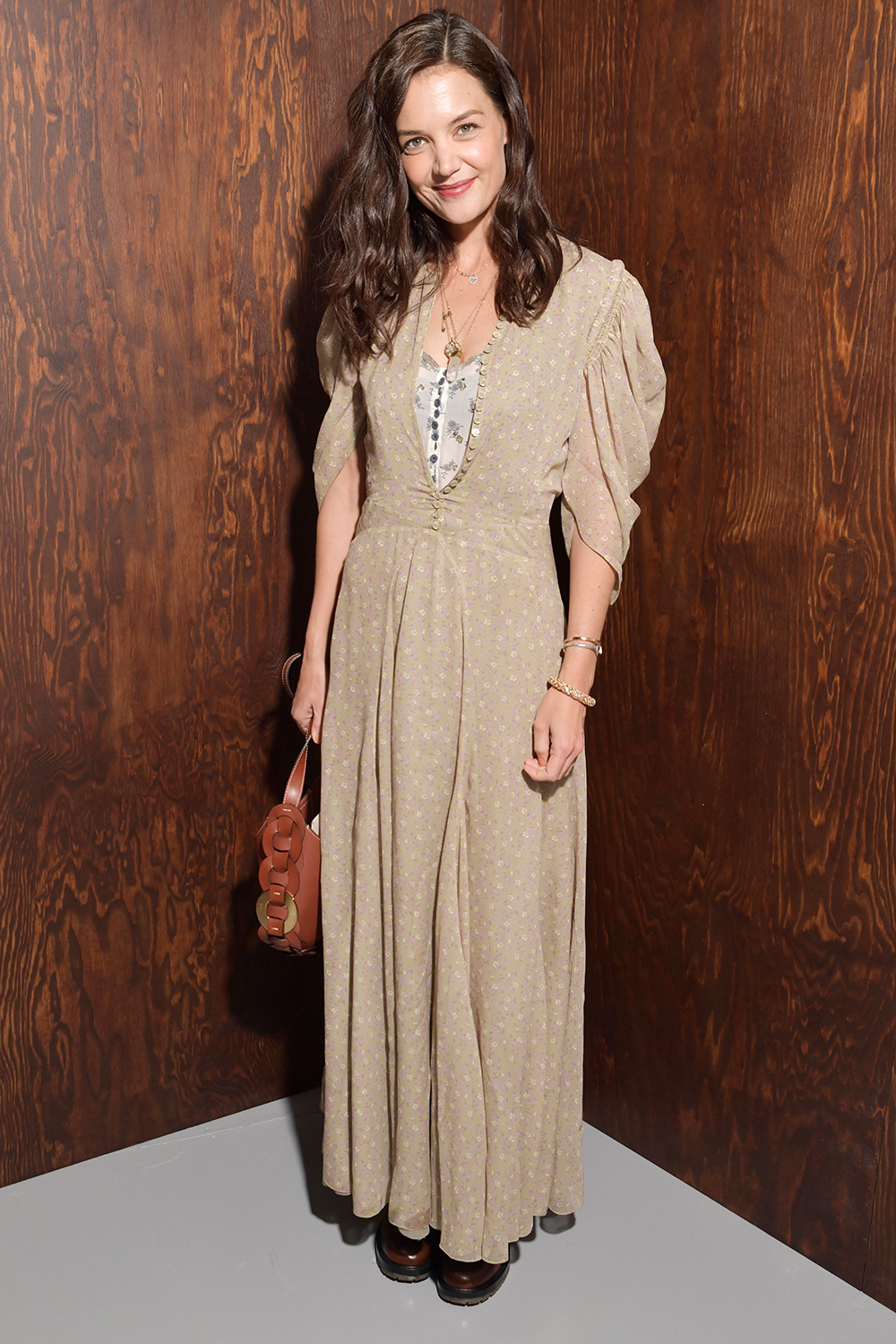 Katie Holmes in the front row Chloe show, Front Row, Fall Winter 2020, Paris Fashion Week, France - 27 Feb 2020