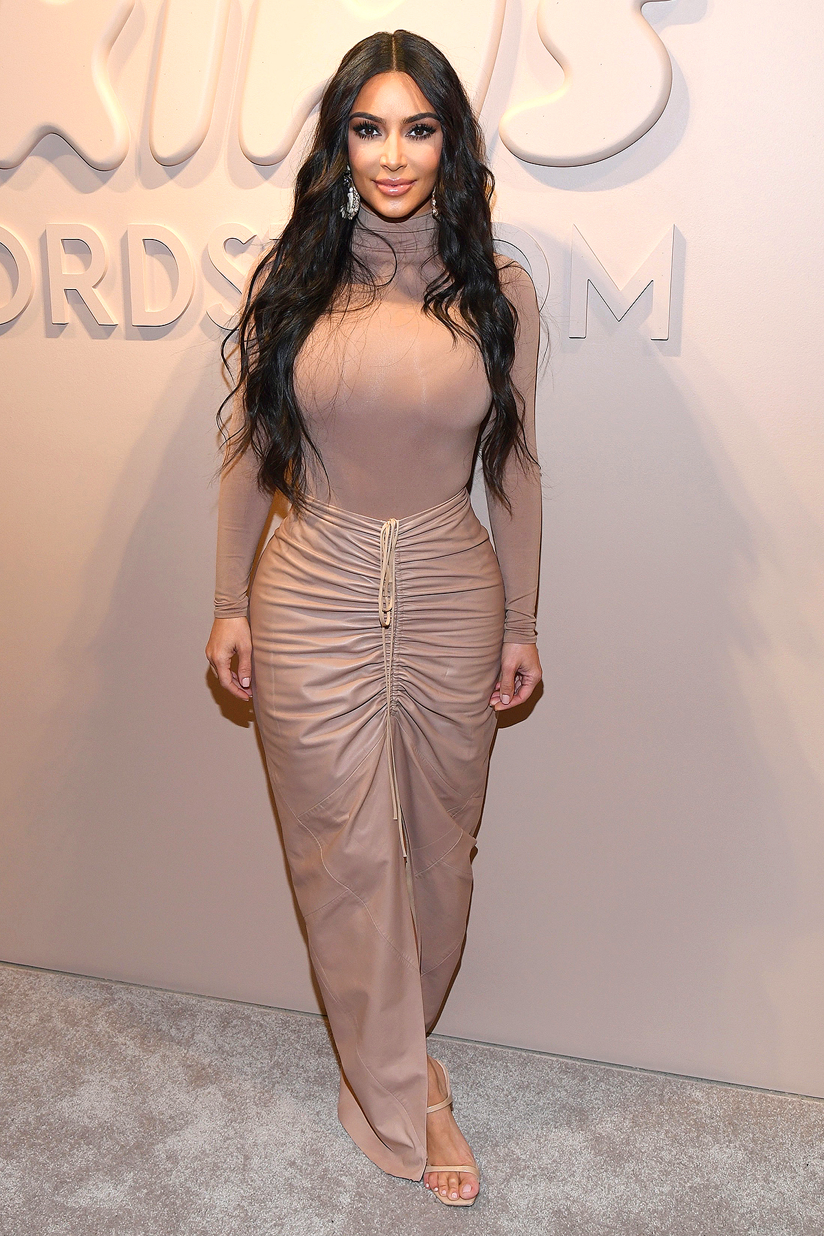 Kim Kardashian West celebrates the launch of SKIMS at Nordstrom NYC on February 05, 2020